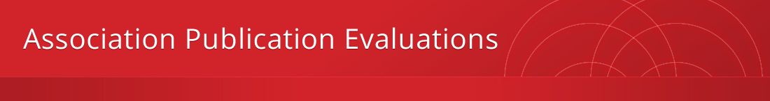 Association Publication Evaluations